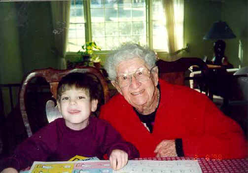Michael and Great-Grandma, Rose Tesman